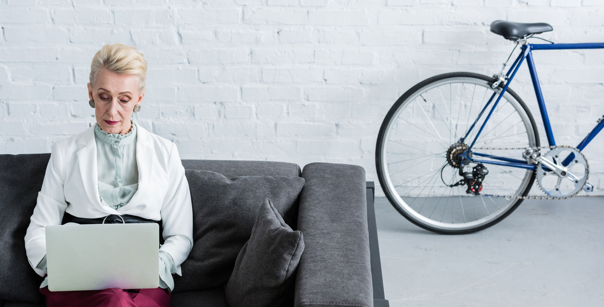 Office-lady-and-bike