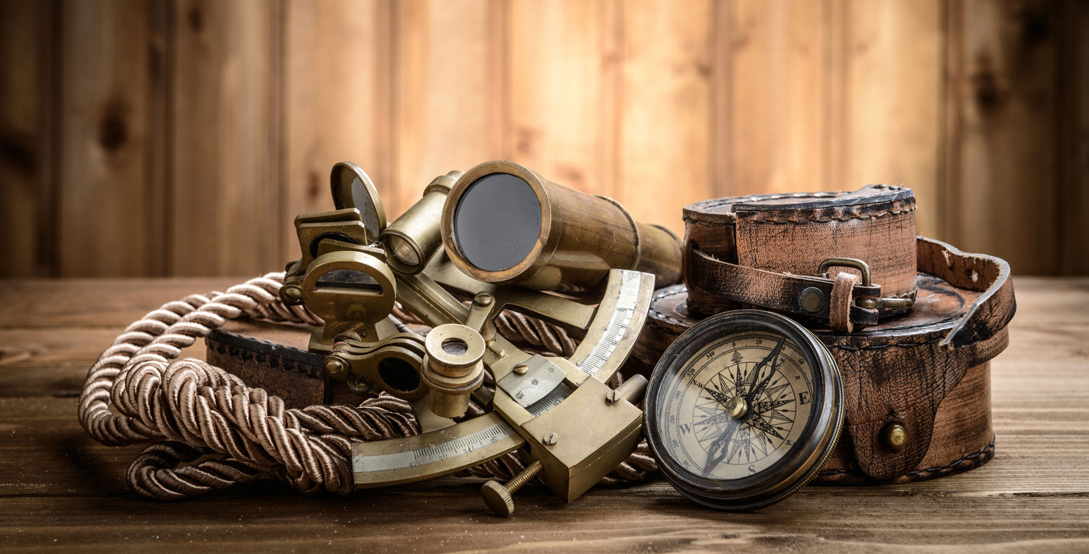 Sextant Compass and Spyglass